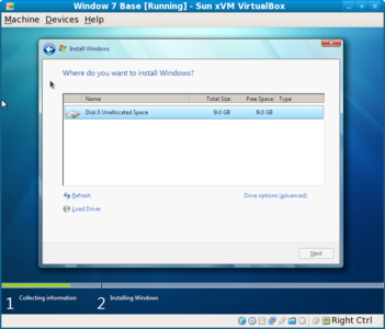 Windows 7 install new